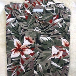 Enro Hawaiian Men's Button down Shirt Tall